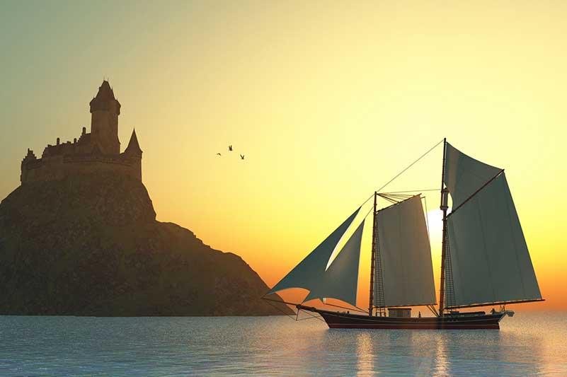 Segelboot, übergang